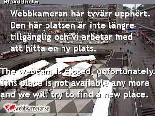 Webbkamera vid Sergels torg i Stockholm