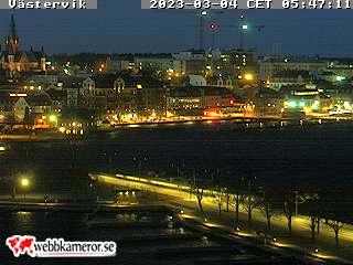 Webbkamera mot Småbåtshamnen i Västervik