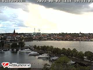 Webbkamera mot Gamlebyviken - Klicka för större bild.